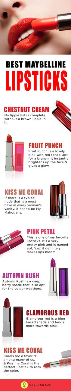 One brand that has always given us a great range of lipsticks in a wonderful array of colours and quality in budget is Maybelline. There are so many amazing lipsticks from this brands, it's tough to select the top ones.