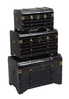 Yeadon 3 Piece Trunk Set