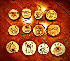 Neat tradition. Make an ornament for next year out of your christmas tree.