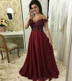 A-line Appliqued Long Prom Dress Fashion Pageant Dress School Party Dress Fashion Wedding Party Dress فساتين خمري School Dance Dresses, A Line Prom Dresses, Best Wedding Dresses, Dresses For Teens, Homecoming Dresses, Bridesmaid Dresses, Long Dresses, Dresses Dresses, Bride Dresses