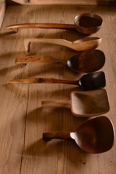 Antiques Atlas - Collection Of Welsh Antique Treen Ladles 19th century antique treen ladles/spoons, in various woods, sycamore and fruitwood