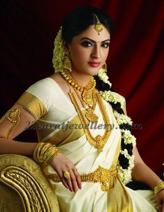 Traditional South Indian Jewellery #southindiajewellery #goldnecklace #diamondneklace #bridaljewellery