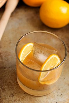 Meyer Lemon Old Fashioned - The Girl in the Little Red Kitchen