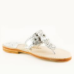 Palm Beach Sandals Iconic, flawlessly chic, silkily comfortable and incomparably durable. A perfection of proportion and scale that makes every foot look pretty Palm Beach Sandals, How To Look Pretty, Pure Products, Classic, Silver, Leather, Shoes, Fashion, Derby