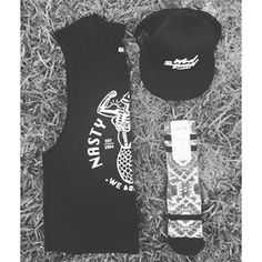 Bell and Bones nasty girls tank and wod squad cap teamed up with Stance socks