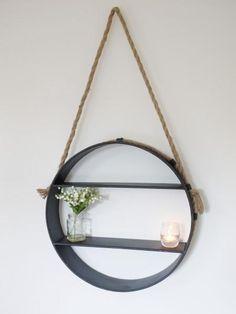 Round Hanging Shelf ,  - Olive and Sage, Olive and Sage  - 1
