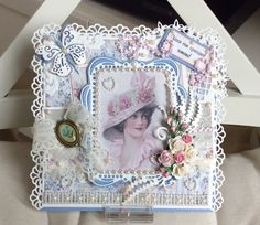 Shabby Chic Cards, Diy Cards, Handmade Cards, Picture Cards, Vintage Cards, Making Ideas, Card Making, Paper Crafts, Victorian