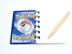 5 Pokemon Notebooks - Pokemon Party - Pokemon Birthday - Pokemon Card - Pokemon Gifts **Place orders no later than Wednesday 20th for Christmas delivery** These 5 Pokemon notebooks are made from recycled Pokemon Trading Cards. The notebooks consist of Pokemon cards for the front