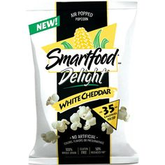 Best New Puffed Snack | Smartfood Delight White Cheddar Popcorn