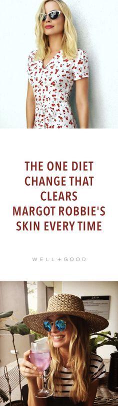 Margot Robbie says cutting dairy cleared her skin.