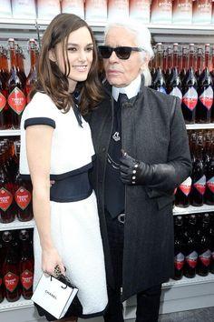 Keira Knightley & Karl Lagerfeld, Chanel AW14