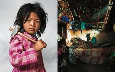 Where Children Sleep by James Mollison. Great portraits paired with the actual environment the kid sleep in. Kids from all over the world are featured. USA kids are the most over the top, by far.
