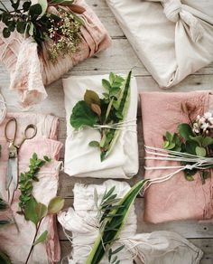 Create unique soap packaging with some cotton duck canvas, hand-dyed scrap fabric, and some clipped greenery. | Willow and Sage