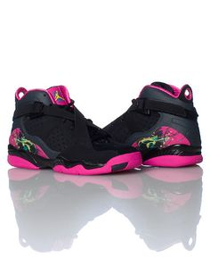 black girls jordan_8_. Don't really like pink...but these caught my eye