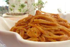 חזה עוף עם ספגטי