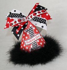 Red and Black Polka Dot Ladybug Party Hat by shoplissy on Etsy, $13.50