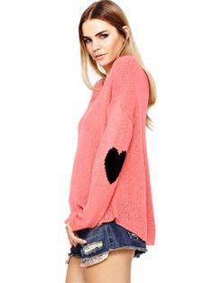 Love Label Heart Elbow Patch Jumper | very.co.uk