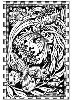 Butterfly Flower Wings Coloring pages colouring adult detailed advanced printable Kleuren voor volwassenen coloriage pour adulte anti-stress kleurplaat voor volwassenen Cynthia Emerlye, artist