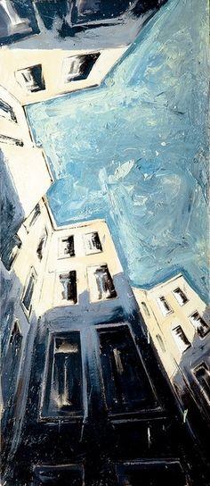"""© Helge Windisch - """"berliner himmel""""  / Oil, Painting, 1997"""