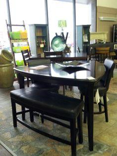 Ashley Millennium Emory 7 Piece Triangle Pub Table Set