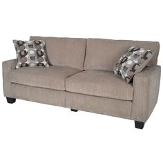 This stylish sofa offers that sit down and sink in feeling using high density foam and premium quality poly-fiber cushions. Reinforced to be durable through years of use, you'll love the way the unique style sets off your living room.