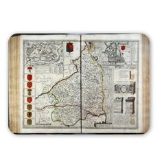 Art247 – Map of Northumberland, from 'The Theatre of.. – Tapis de souris – Tapis de souris en caoutchouc naturel de qualité supérieure –…