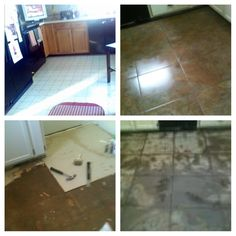 Kitchen Floor Re-Do... My 1st time tiling a floor!