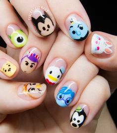Add eyebrows to the nails Nail art ideas. Add eyebrows to the nails - -Nail art ideas. Add eyebrows to the nails - - Nail Art Disney, Disney Nail Designs, Cute Nail Designs, Acrylic Nail Designs, Art Designs, Nail Designs For Kids, Design Ideas, Cartoon Nail Designs, Disney Princess Nails