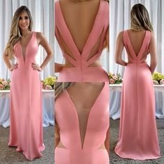 Illusion Plunging Neck Long Prom Dress on Luulla Ball Dresses, Sexy Dresses, Cute Dresses, Beautiful Dresses, Ball Gowns, Fashion Dresses, Prom Dresses, Formal Dresses, Dress Prom