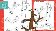 Man Crafts, Book Crafts, Art For Kids, Crafts For Kids, Frozen Coloring Pages, Side Bar, Teacher's Pet, Stick Man, Book Week