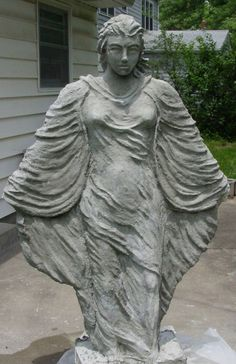 My 2nd statue - female figure - Hypertufa Forum - GardenWeb