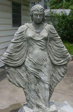 My 2nd statue - female figure - Hypertufa Forum - GardenWeb