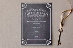 A Chalkboard Marriage Menu by Petite Papier at minted.com