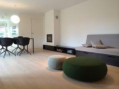 studio-EI -- Woning 15: 's Gravendeel. Interieurontwerp & meubelontwerpen: souterrain, speelkamer, eetkamer, keuken, kastenwanden, zitkamer, zitbank, haard, badkamer, zolder, kinderkamers en hoogslapers. www.studio-ei.nl