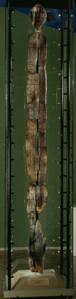 Holzstatue im Historischen Museum Jekaterinburg: 1997 habe eine erste...