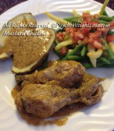 Mustard Chicken (Only 143 calories per drumstick) - It's my personal goal to make weight loss and weight maintenance deliciously easy for you and me. May your journey be scrumptious and the company you keep inspiring and supportive.