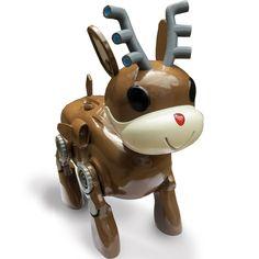 3D printed robot reindeer.