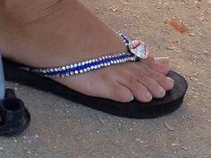 Baseball flip-flops
