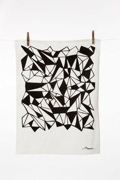 Ferm Living Monroe Towel (Black) $19