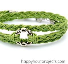Easy Woven Wrap Bracelet DIY from Happy Hour Projects, featured @savedbyloves