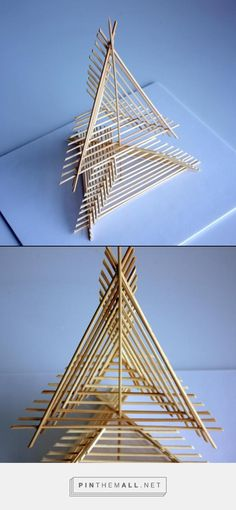 by Tanya Bopp, AP Design Concentration studying shape, repetition, movement, and direction - created on 3d Art Projects, Sculpture Projects, Design Projects, Sculpture Art, Urban Landscape, Landscape Design, Nirmana 3d, Toothpick Sculpture, Arch Model