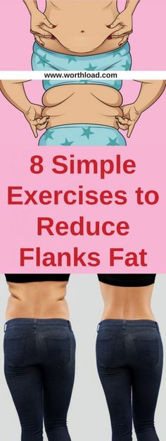 8 Simple Exercises to Reduce Flanks Fat – Women'z Fitness Fitness Workouts, Easy Workouts, Fitness Tips, Fitness Goals, Workout Routines, Fitness Men, Fitness Motivation, Ways To Burn Fat, How To Lose Weight Fast