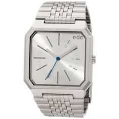 Edc by esprit Men's Retro Analog Cool Silver Watch - US STORE