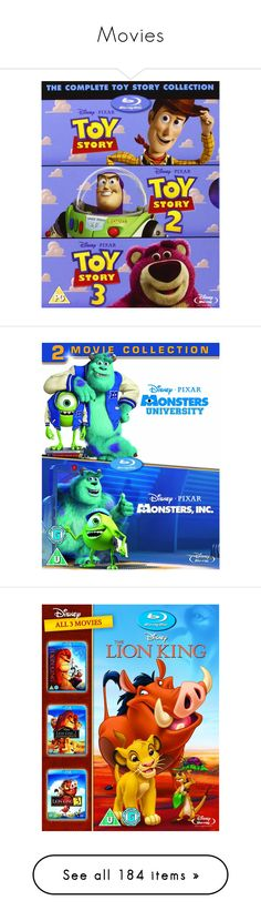 """Movies"" by msm96 ❤ liked on Polyvore featuring movies, disney, dvd, stuff, fillers, filler, home, home decor, men's fashion and small item storage"