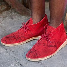 Supreme recently dropped their latest shoe release, coming May 9th!. Supreme partnered with Clarks to bring you the Map Suede Desert Boot. This boot has a traditional silhouette with an awesome print. Stepping out in these this spring will bring your shoe game up a notch #Sneakerhead #Sneakeroftheday #supreme #Clarks