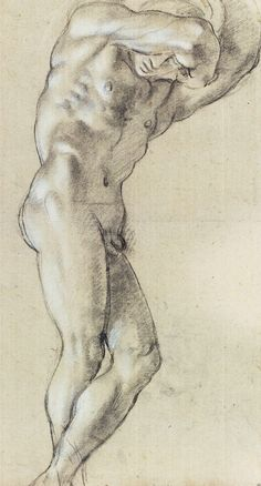 Annibale #Carracci (1560-1609)  Atlas, c.1599-1600  Charcoal and chalk on paper  Paris, Louvre