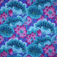 my favorite lotus fabric by Kaffe Fasset