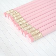 littlekyeopta:  12 imperfect pastel pink pencils | ♥ «original owner ^^