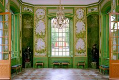 Drottningholm Palace, Sweden. Interior of Chinese Pavilion built in the mid-18th century