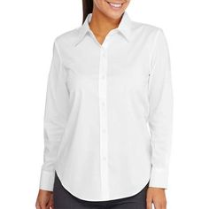 George Women's Long Sleeve Woven Blouse